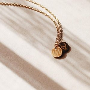 Jewelry - C3000 New Double Disc Initial Gold Pendant
